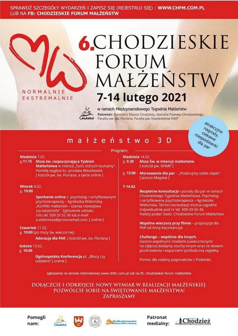 Program Chodzieskie Forum Małżeństw 2021